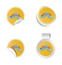 flip flop color vector image vector image