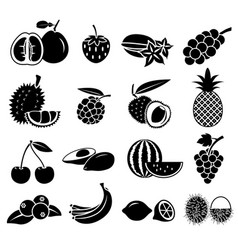 fruit icon set 02 vector image