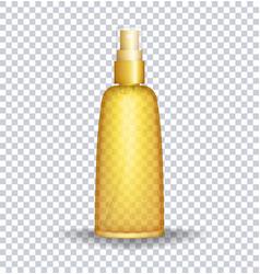 Sun block lotion container sun care oil vector