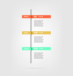 vertical cartoon timeline steps infographics - can vector image vector image