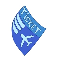 Blue plane ticket icon cartoon style vector image vector image