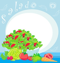 bowl full of fresh vegetable salad vector image vector image