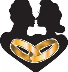 marriage love vector image vector image