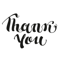 Thank you Lettering text vector image
