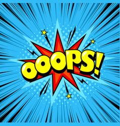 comic cartoon style bubble superhero expression vector image