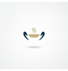eatery icon vector image vector image