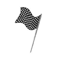 Flag sport finish winner design vector