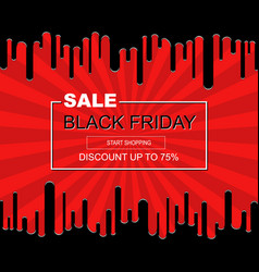abstract black friday sale poster vector image vector image