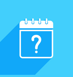 calendar icon with question mark vector image