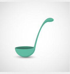 isolated ladle on white background vector image