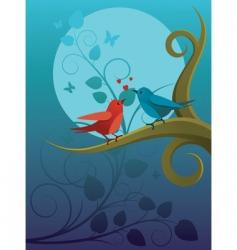 lovers birdie vector image