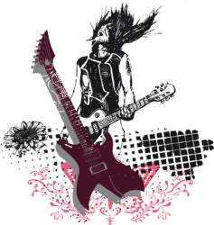 rock music vector image