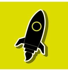 Rocket launch design vector