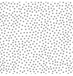 seamless simple pattern with black circles vector image
