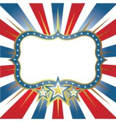 USA frame vector image vector image
