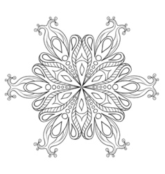 Zentangle elegant snow flake ornamental winter for vector image vector image