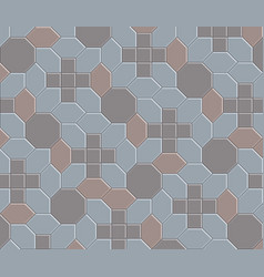 3d clay brick pattern floor-08 vector image