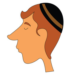 a jewish guy with long nose or color vector image