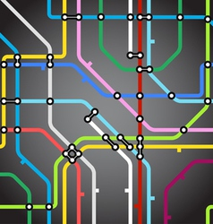 Abstract background of metro scheme vector image