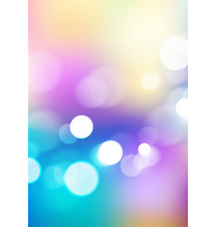 Abstract bokeh lights on soft colors background vector
