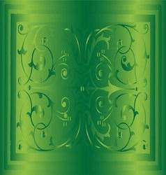 Abstract Green Background of Elegant Vintage Flora vector image