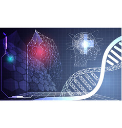 abstract technology science concept medical data vector image
