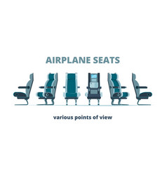 airplane seat aircraft interior armchairs in vector image