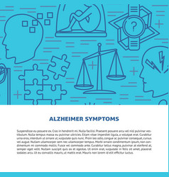 alzheimers disease concept banner template in line vector image
