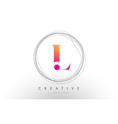 Artistic l letter logo design with creative vector