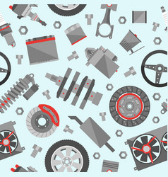 auto spare parts seamless pattern car repair icon vector image