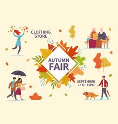 autumn fair fall season public exhibition vector image