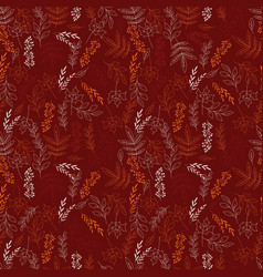 autumn seamless pattern with floral decorative vector image