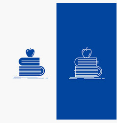 back to school school student books apple line vector image