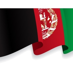 Background with waving afghan flag vector