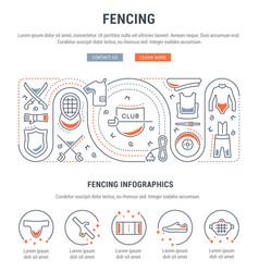 Banner fencing vector