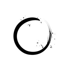 Black circle zen vector