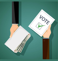 Bribery of voters in elections vector