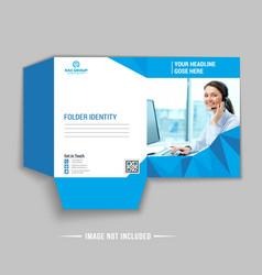 Business presentation folder vector