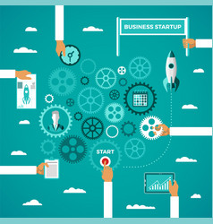 Business startup infographic concept in flat style vector