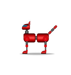 cat robot modern high tech toy animal pet clipart vector image
