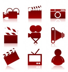 cinema icons2 vector image