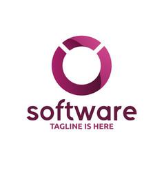 Circle software logo vector