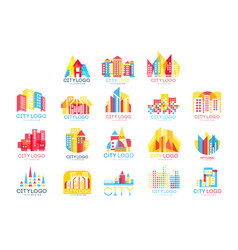City logo original design set logotype elements vector