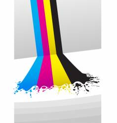 CMYK paint vector image