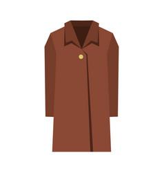 Coat icon flat style vector