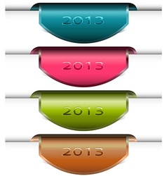 Colorful bookmark vector image