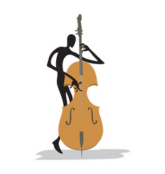 contrabass player vector image