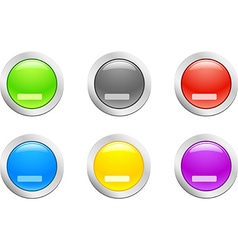 Cut down button vector
