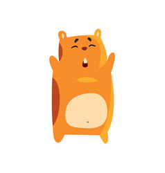Cute funny cartoon hamster character standing with vector