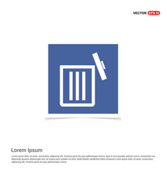 delete icon - blue photo frame vector image